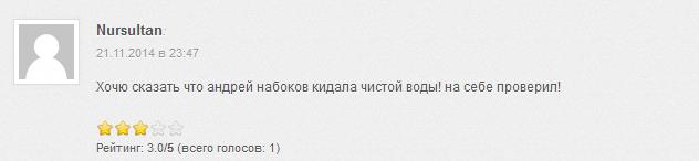 Отрицательный отзыв о мошеннике Андрее Набокове parlays.pro №6