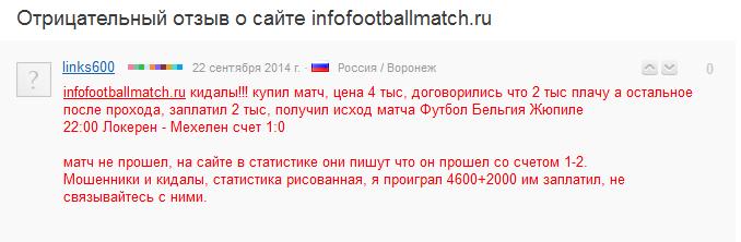 Отрицательный отзыв о мошеннике по договорным матчам Дамире Ахмудове сайт infofootballmatch.ru №5