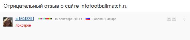 Отрицательный отзыв о мошеннике по договорным матчам Дамире Ахмудове сайт infofootballmatch.ru №6